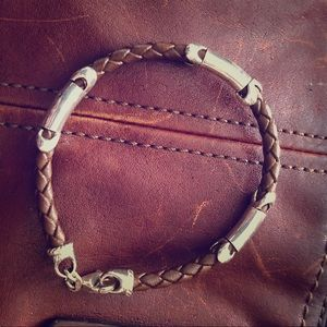 Other - Child size Leather and Silver Bracelet.